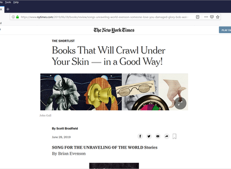 New York Times features SUSPENDED HEART online and in print.