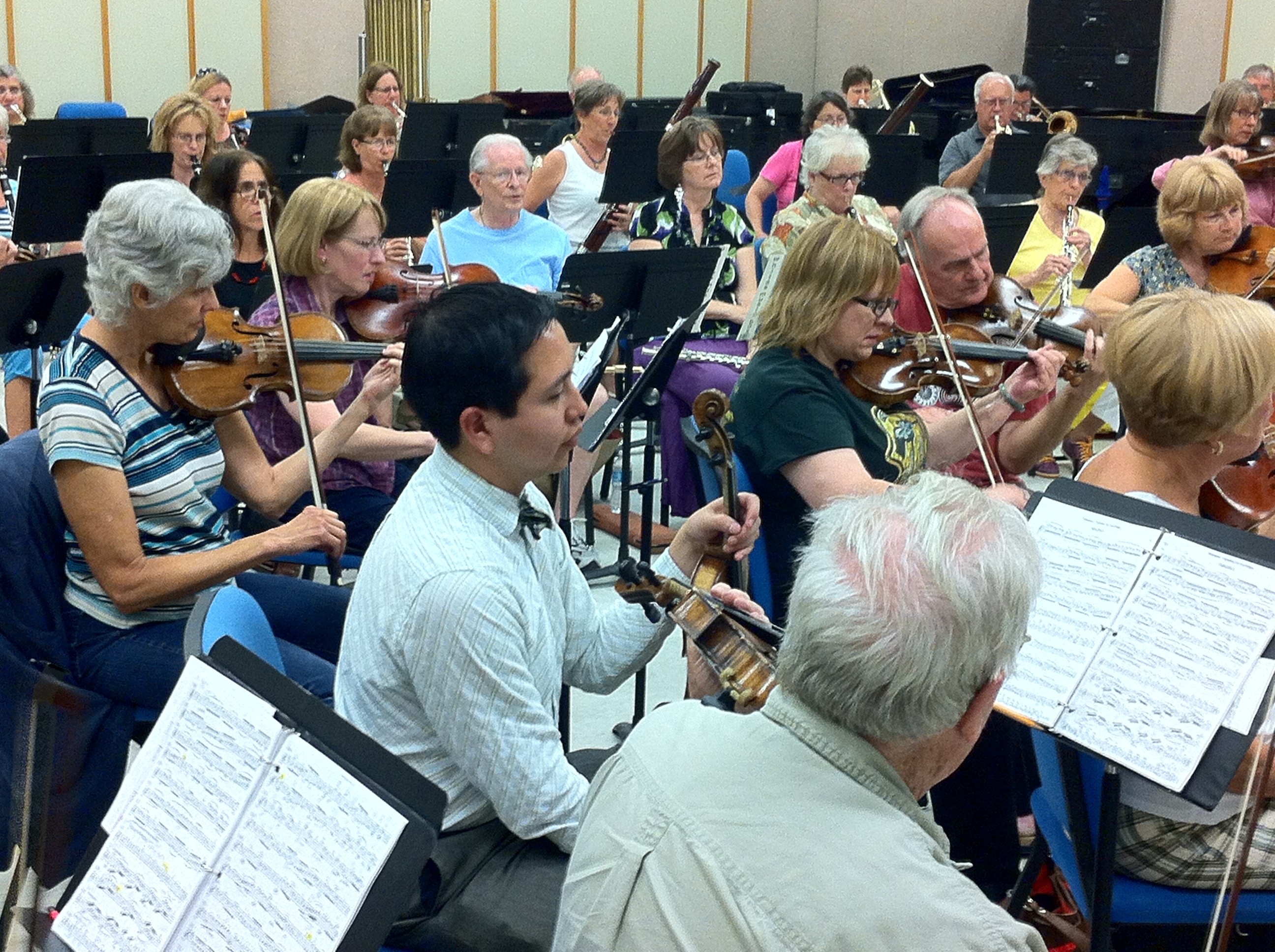 NHSO in Rehearsal