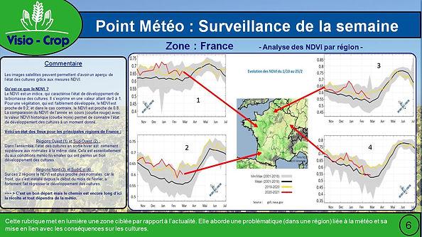 France - Analyse NDVI par Région - Fév 2