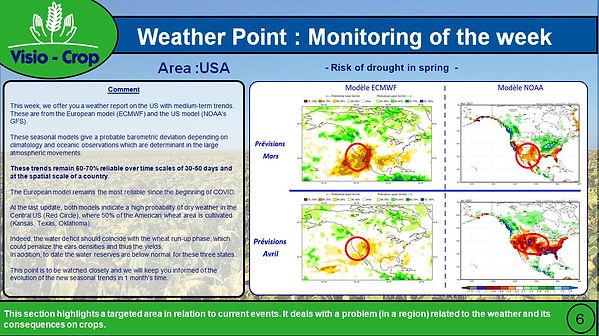 USA - Risuqe de sécheresse au printemps