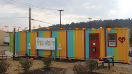 Our decommissioned shipping container turned home