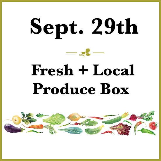 September 29th Pick Up - Fresh Produce Box