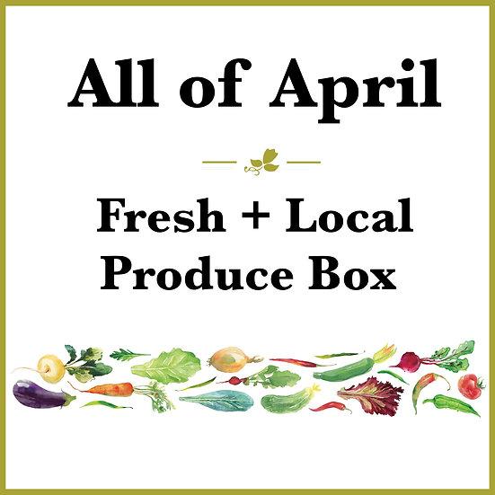 All of April  Pick Up - Fresh Produce Box