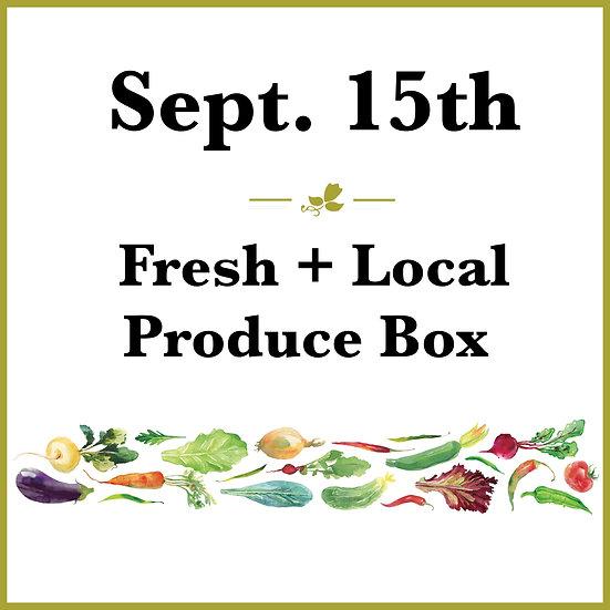September 15th Pick Up - Fresh Produce Box