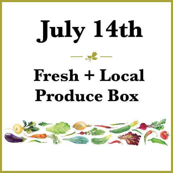 July 14th Pick Up - Fresh Produce Box