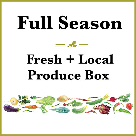 Full Season Pick Up - Fresh Produce Box