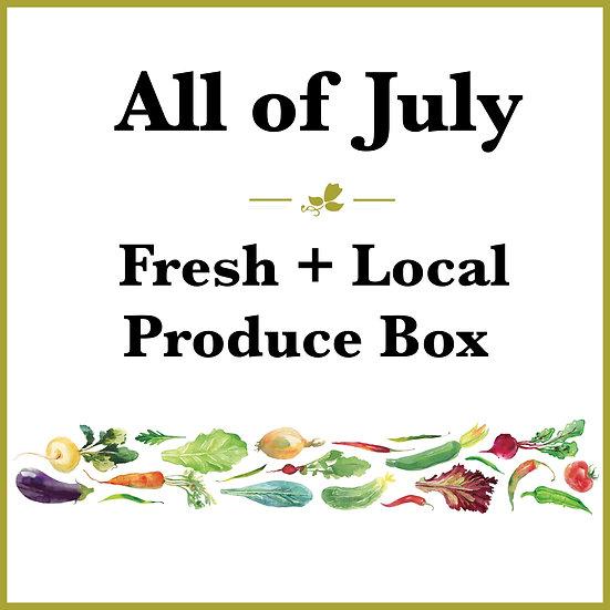 All of July Pick Up - Fresh Produce Box