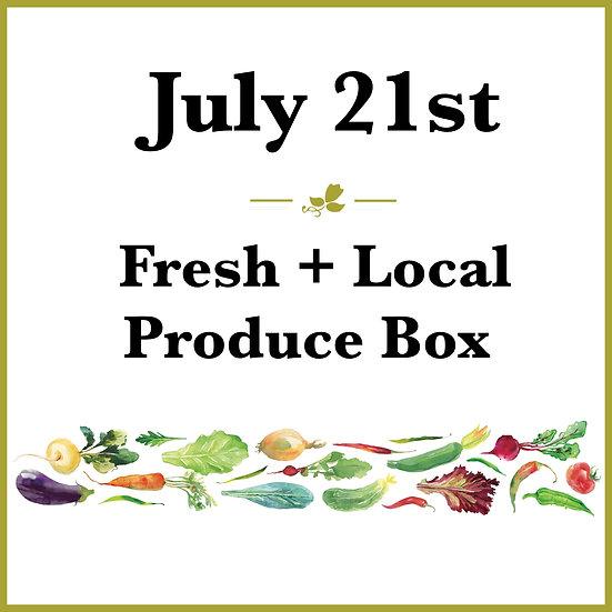 July 21st Pick Up - Fresh Produce Box