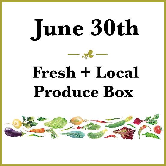 June 30th Pick Up - Fresh Produce Box