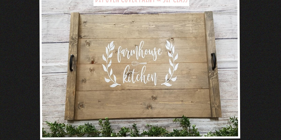 DIY Oven Cover Paint & Sip