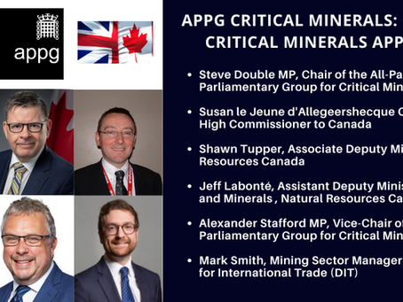 UK APPG Critical Minerals Event: Canada's Critical Minerals Approach
