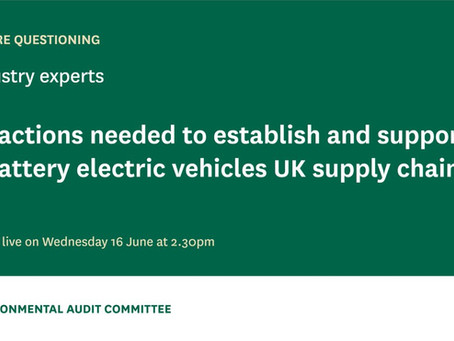 CMA Co-founder Gives Evidence to the UK Parliament Environmental Audit Select Committee