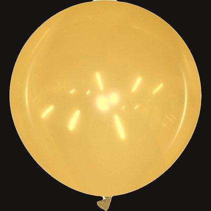 40inch Round Cattex Balloon - Crystal Orange