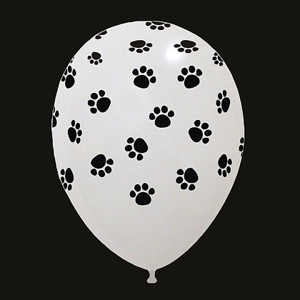 12in Paw Print Cattex Balloon