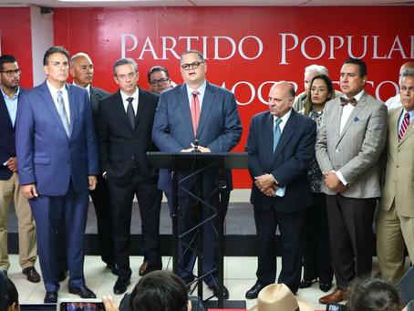 Expresiones del Presidente, los portavoces de Cámara y Senado y el Presidente de los alcaldes del Pa