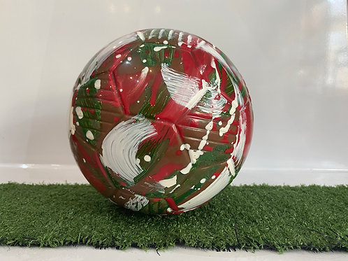 Chocolate Football Red, White & Green