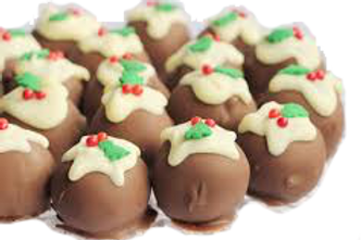 Christmas Pudding Truffle Box