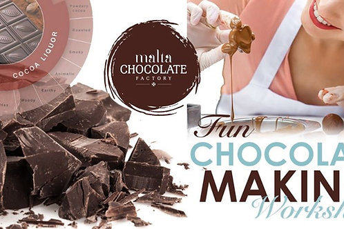 VOUCHER FOR TWO ADULTS CHOCOLATE MAKING WORKSHOPS