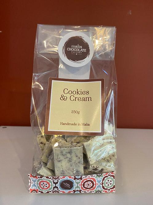 250g White Cookies and Cream