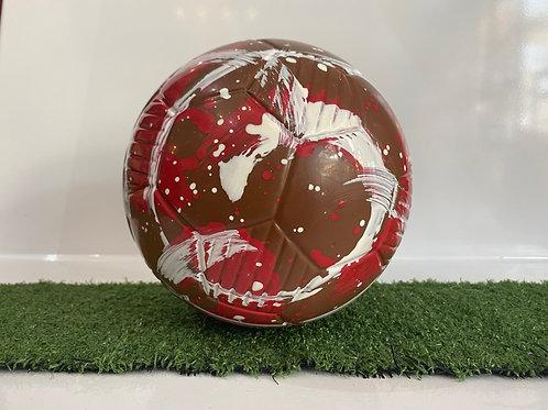 Chocolate Football Red & White