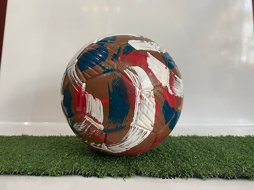 Chocolate Football White, Blue & Red