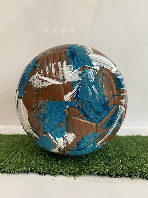 Chocolate Football White & Blue