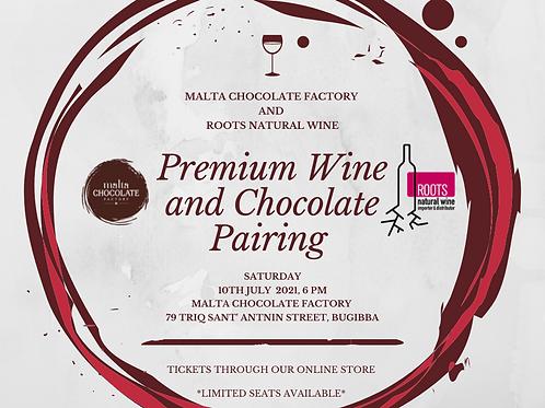 Premium Wine and Chocolate Pairing Evening