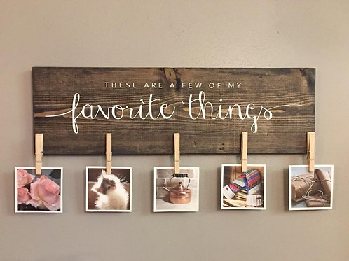 """Favorite Things"" Photo Board"