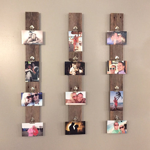 RECLAIMED WOOD PHOTO CLIP BOARDS