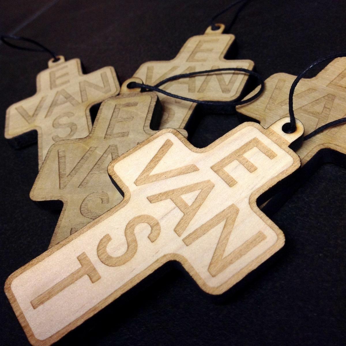 east_van_cross_wood_ornament