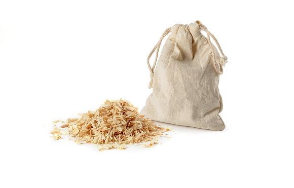 Baumwollsäcklein mit Zirben-/Arvenspänen
