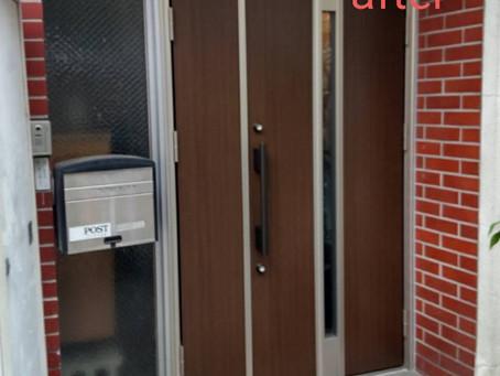 新宿区 ビル玄関ドア交換工事