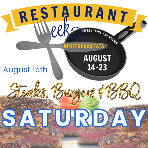 Steaks, Burgers, and BBQ August 15th!