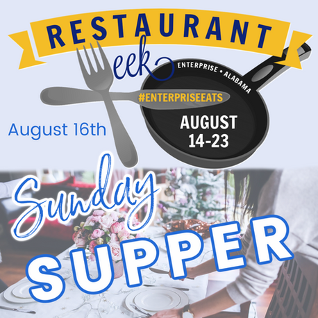 Sunday Supper August 16th!
