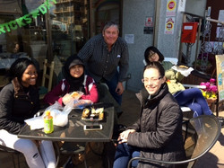 March Trainees at Lunch with Larry