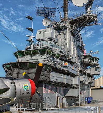 USS Intrepid Island & A-1 Skyraider