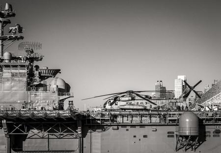 Sea King on the USS Iwo Jima