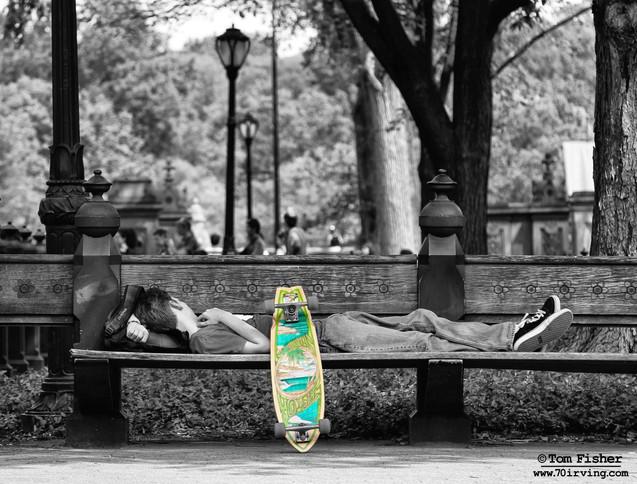 Weary Skateboarder