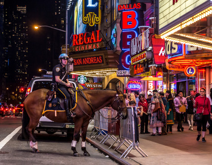Times Square Mounted Cop