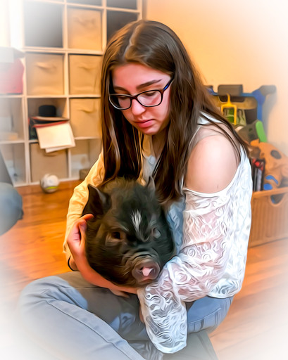 A Girl and Her Pig