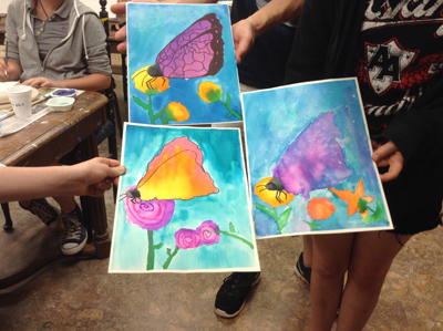 Butterfly watercolor washes
