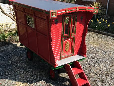 Local Man Builds Half Size Gypsy Caravan in Shed