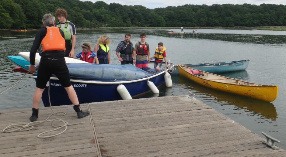 The Hamble Sea Scouts Arrive at Manor Farm