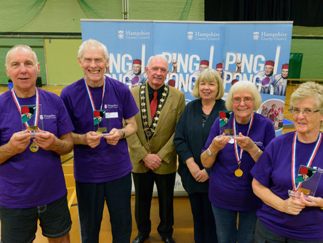 Third annual ping pong event for over 65s a big success