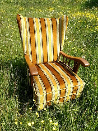 Velvet streepstoel
