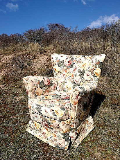 Floral easy chair