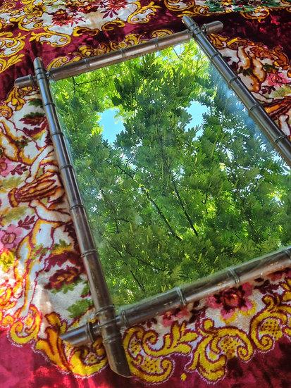 XL Faux Bamboo spiegel