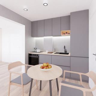 Vizualizácia interiéru prestavby rodinné domu - kuchyňa
