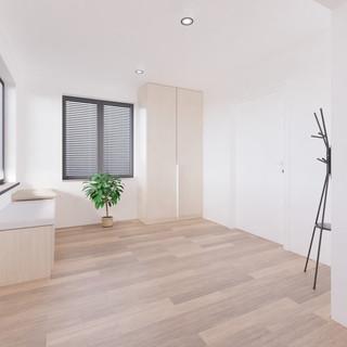 Vizualizácia interiéru prestavby rodinné domu - chodba