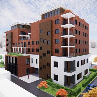 Vizualizácia exteriéru bytové domu